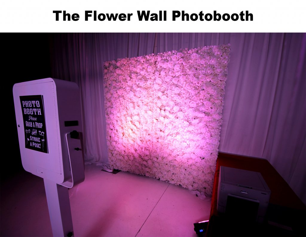 Flower wall photobooth
