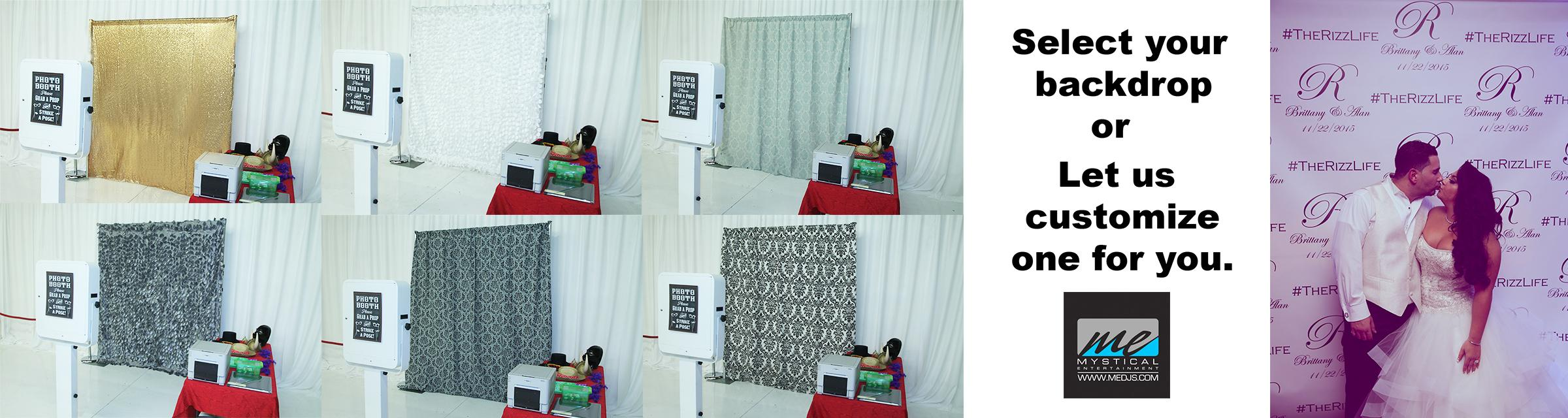 Backdrops ME photobooth rentals 3