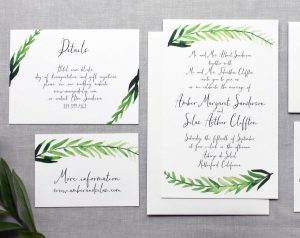 Greenery Style Invitations
