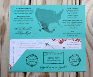 Map Style Invitations