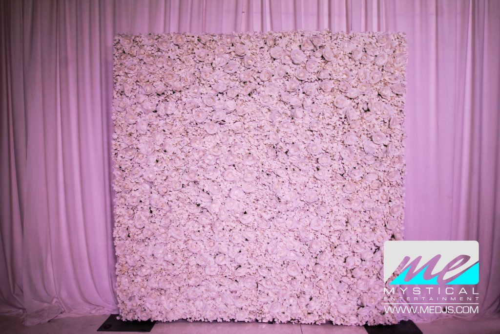 mystical entertainment group flower wall rentals
