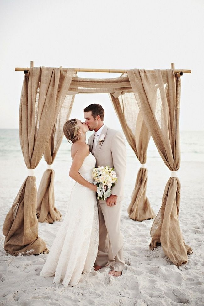 Gorgeous-ceremony-decoration-idea-Ceremony-alter-with-burlap