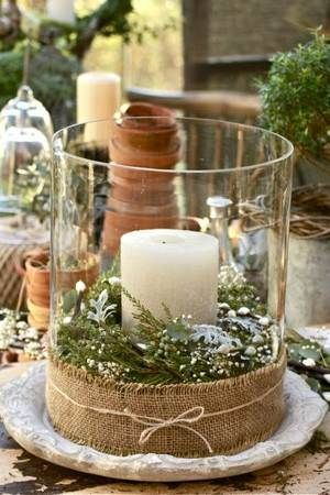 burlap-candle-centerpiece