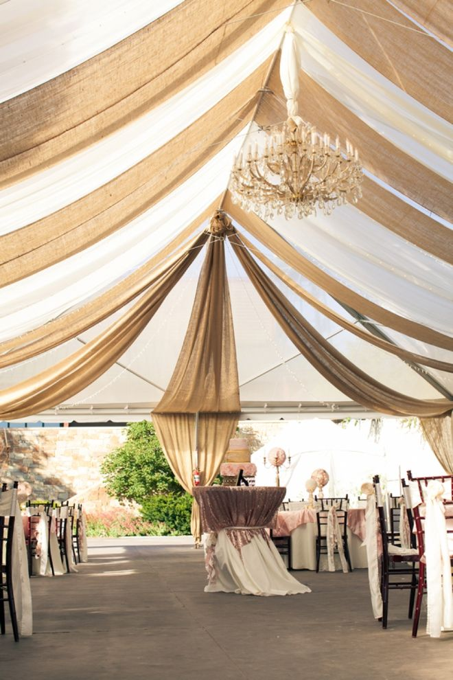 burlap-wedding-ideas-burlap-and-linen-tent-drape