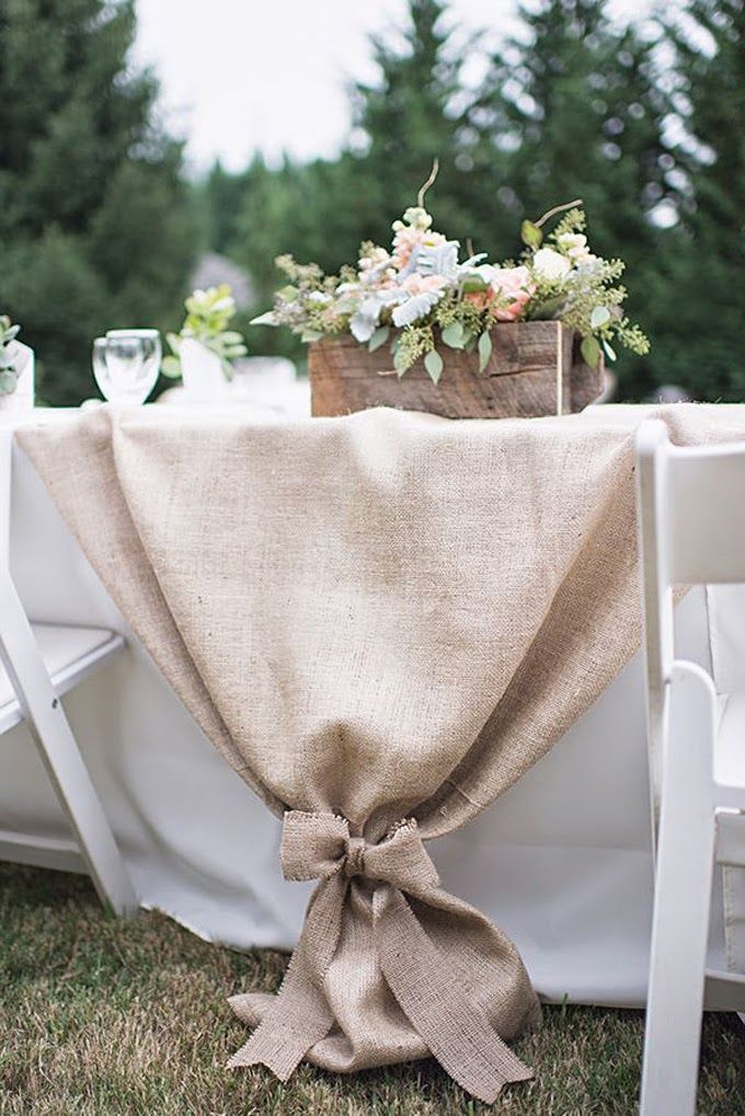 rustic-wedding-ideas-burlap-table-runner-wedding