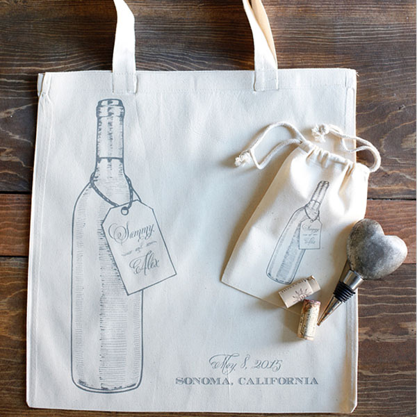 vineyard wedding bag